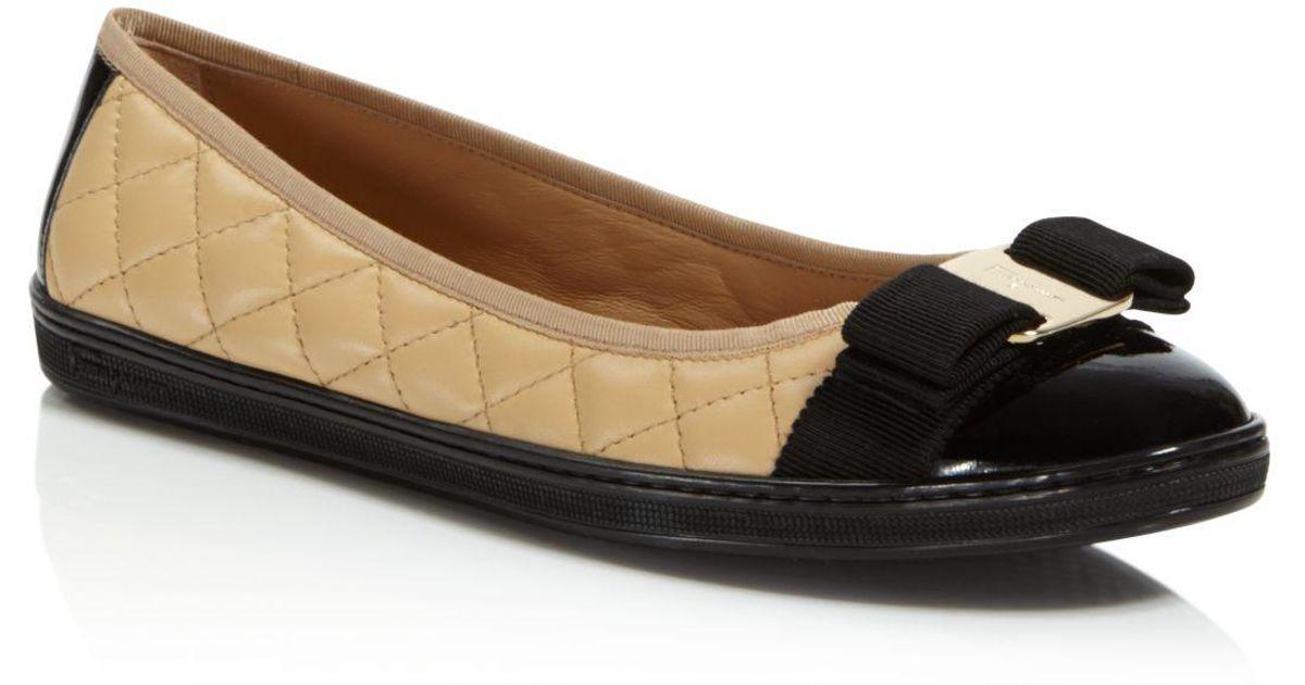 Salvatore Ferragamo Quilted Cap Toe Sneaker Flats ATpyGWO