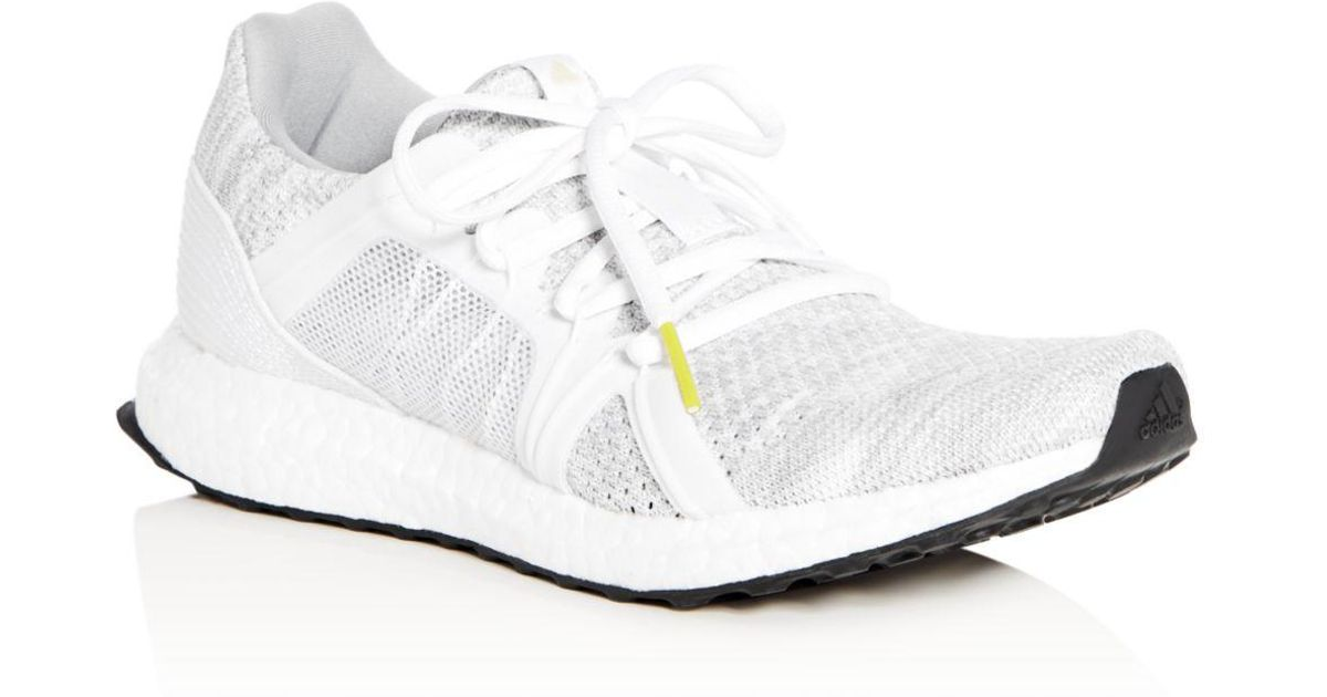 74bd767fe Lyst - adidas By Stella McCartney Women s Ultraboost Parley Knit Lace Up  Sneakers in White
