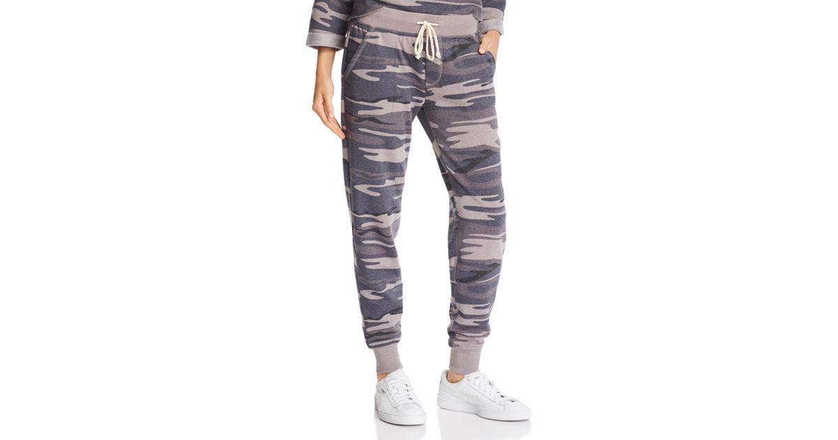 f32c7c6b78d2c Alternative Apparel Camo Fleece Jogger Pants in Gray - Lyst