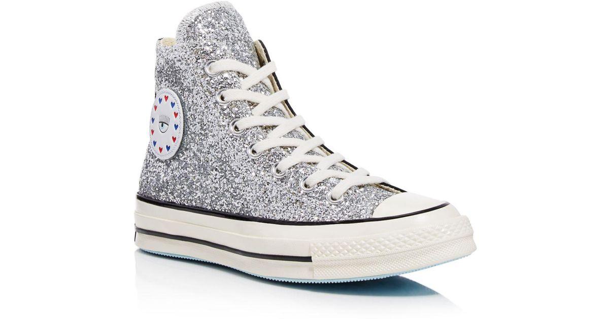 grande selezione grande sconto per varietà larghe Converse Multicolor X Chiara Ferragni Women's Chuck Taylor Glitter High Top  Sneakers
