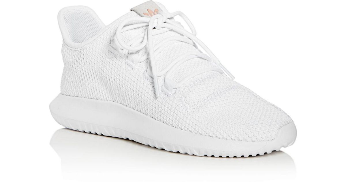 the best attitude 377ec 9f6d8 Adidas - White Women's Tubular Shadow Lace Up Sneakers - Lyst