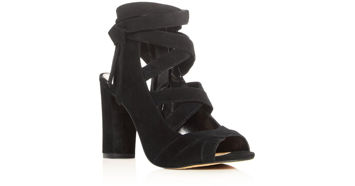 9325b060c0d Lyst - Vince Camuto Sammson Crisscross Strappy High Heel Sandals in Black
