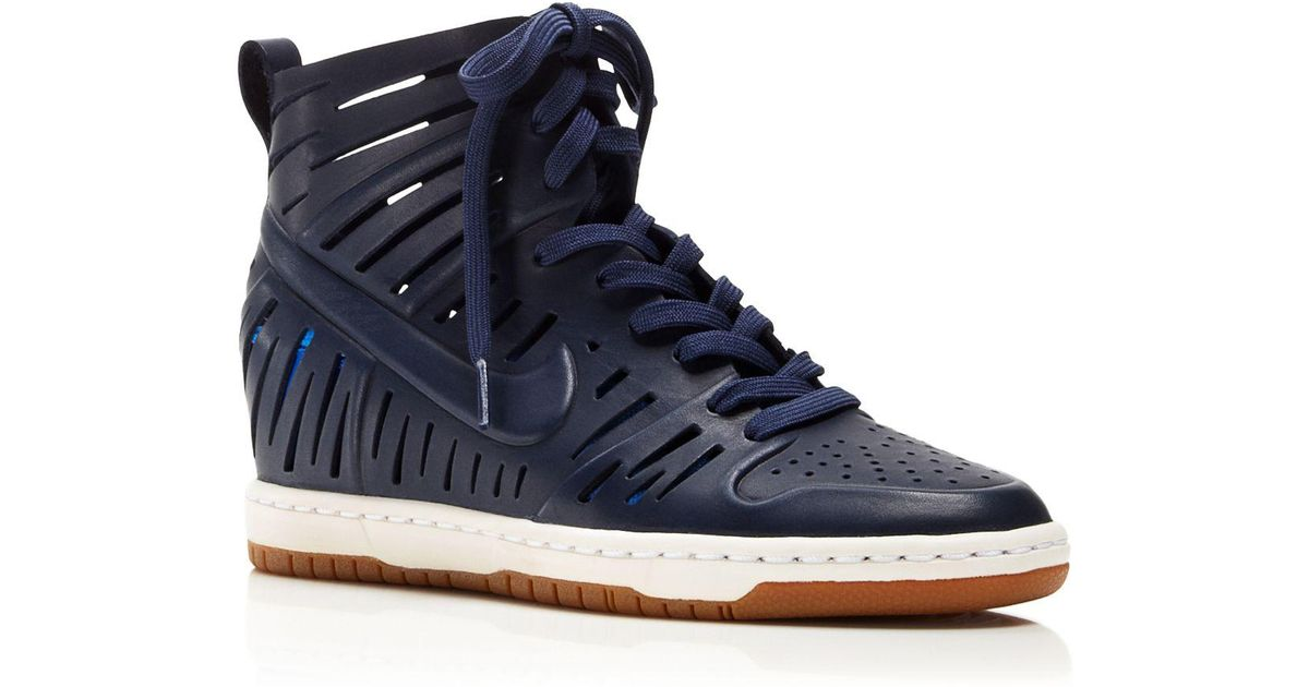 reputable site 703f3 fb1e4 ... coupon code for lyst nike lace up wedge sneakers womens dunk sky hi 2.0  joli in