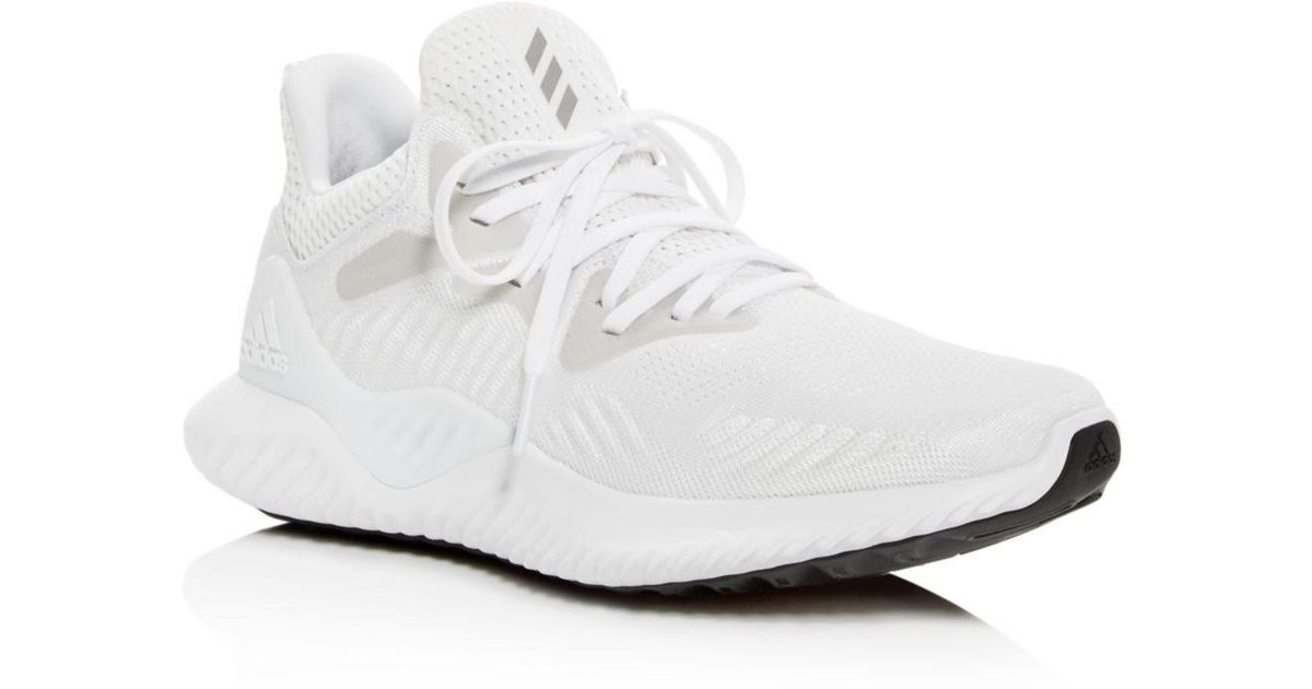 cac7fe8c36bb2 adidas Women s Alphabounce Beyond Lace Up Sneakers in White - Lyst