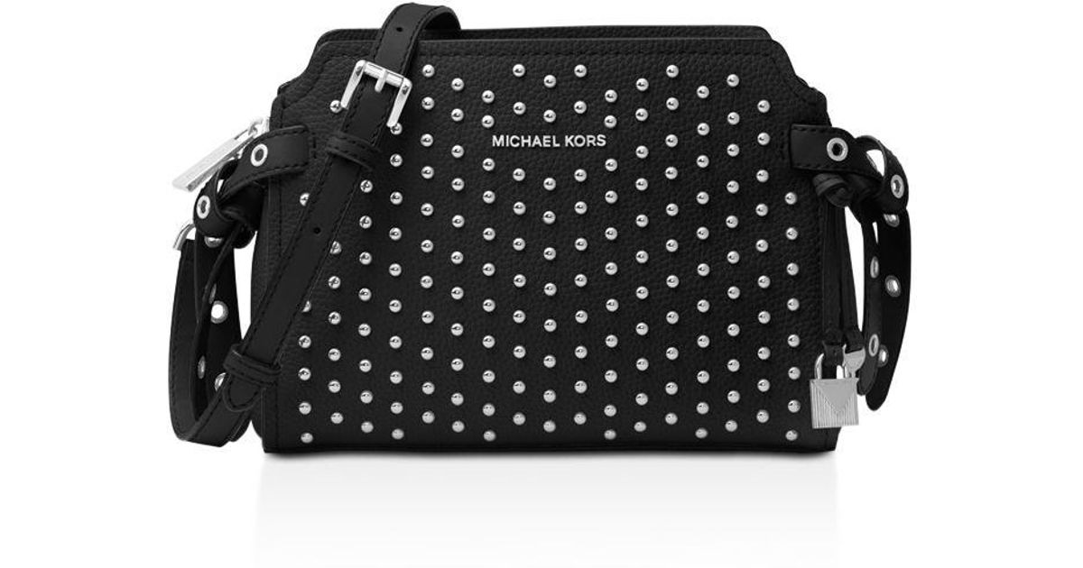 608d7ed6e19f Lyst - MICHAEL Michael Kors Bristol Medium Leather Messenger in Black