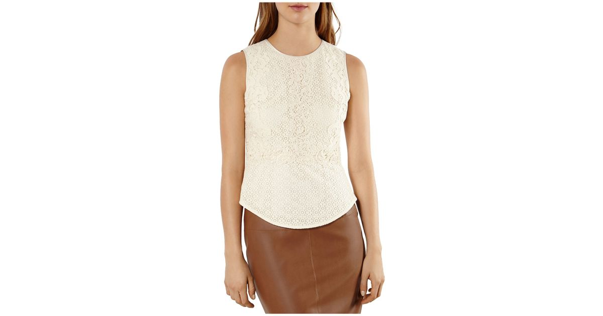 d4fd4c35052 Karen Millen Lace On Lace Top In White (ivory) · Xcloth Women Lace Floral  Tops Blouse T001 Sheer Lace Tunic