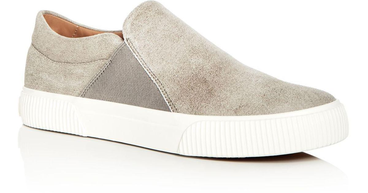 Vince Men's Kelvin Distressed Nubuck Leather Slip-On Sneakers k85O9dXYF