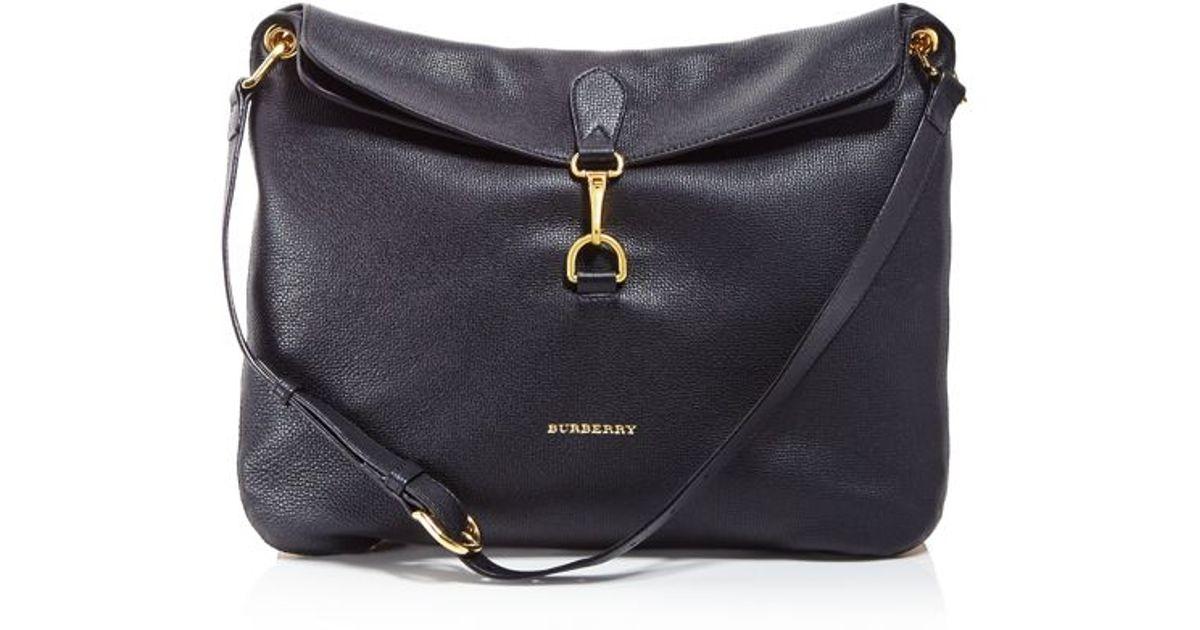 e80a307a6582 Lyst - Burberry Medium Cornwall Derby House Check Shoulder Bag in Black