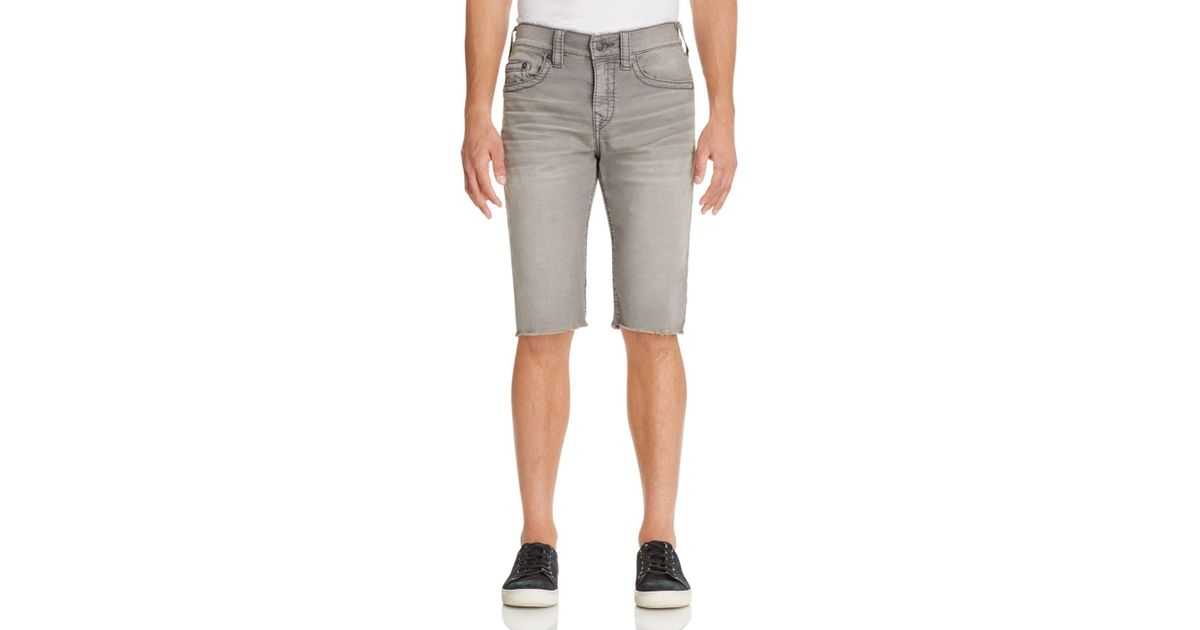 True religion Geno Cut-off Shorts in Gray for Men | Lyst