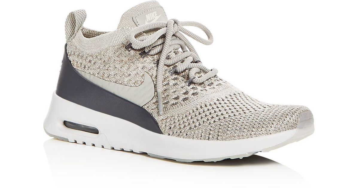 online retailer e1157 874d7 Lyst - Nike Women s Air Max Thea Ultra Flyknit Lace Up Sneakers in Gray