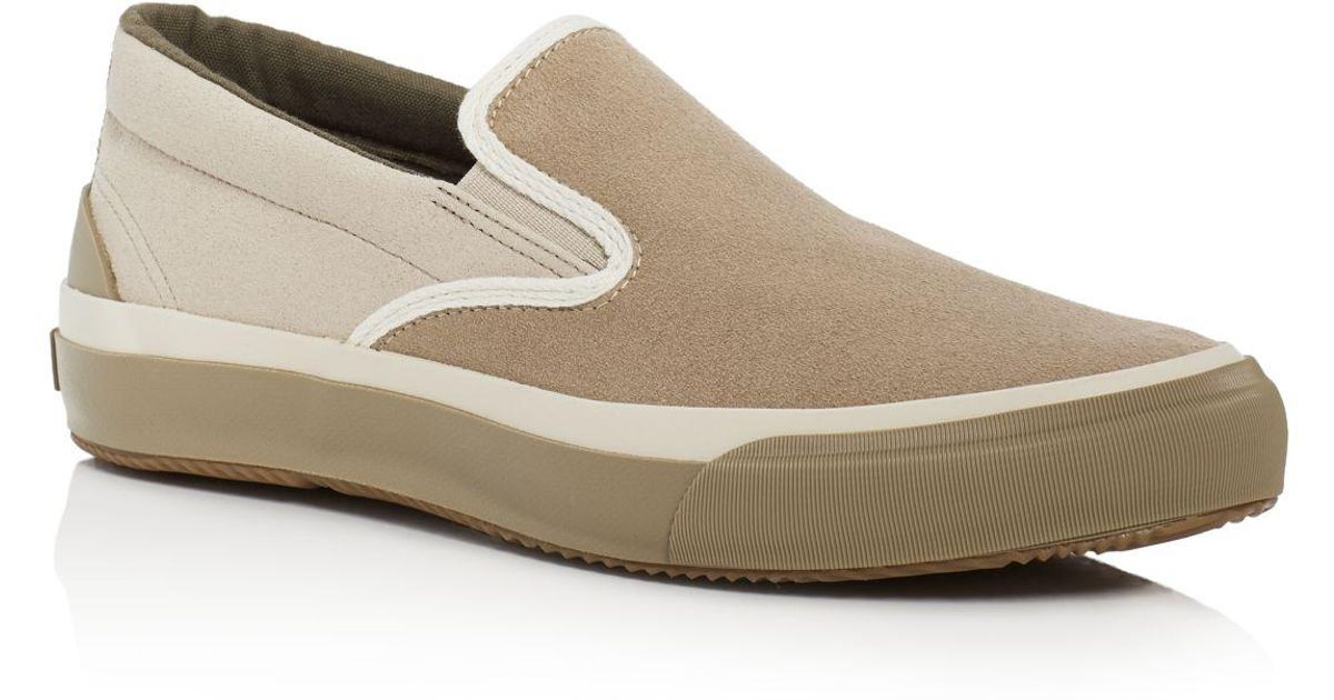 73f0b875f8635e Lyst - The Hill-side Two-tone Synth Suede Slip-on Sneakers in Natural for  Men