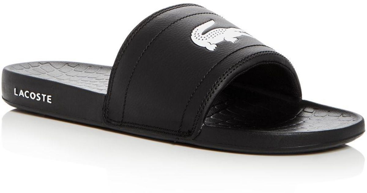 f44166d10 Lyst - Lacoste Men s Fraisier Slide Sandals in Black for Men