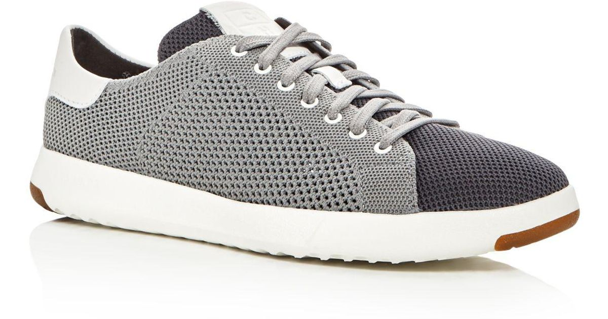 Lyst - Cole Haan Grandpro Tennis Stitch Lite Knit Lace Up Sneakers in Gray  for Men