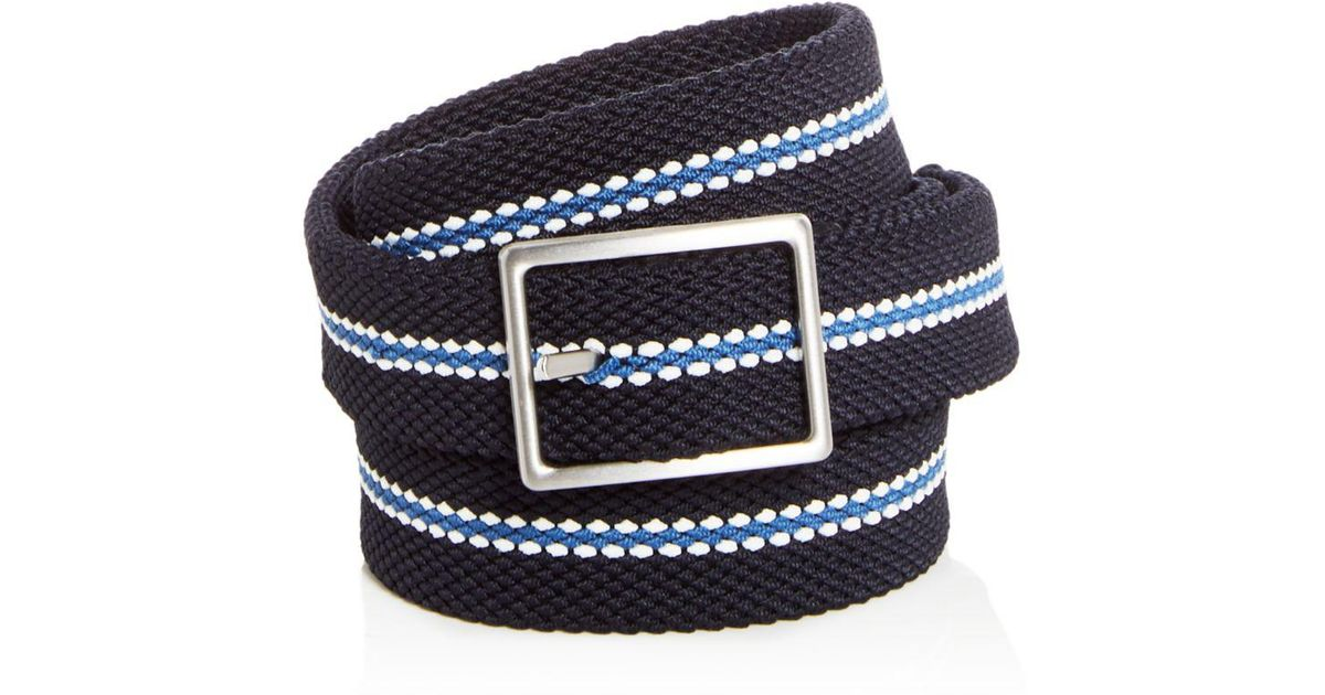 0edd2dad167 Lyst - Bloomingdale s Woven Stretch Stripe Reversible Belt in Blue for Men