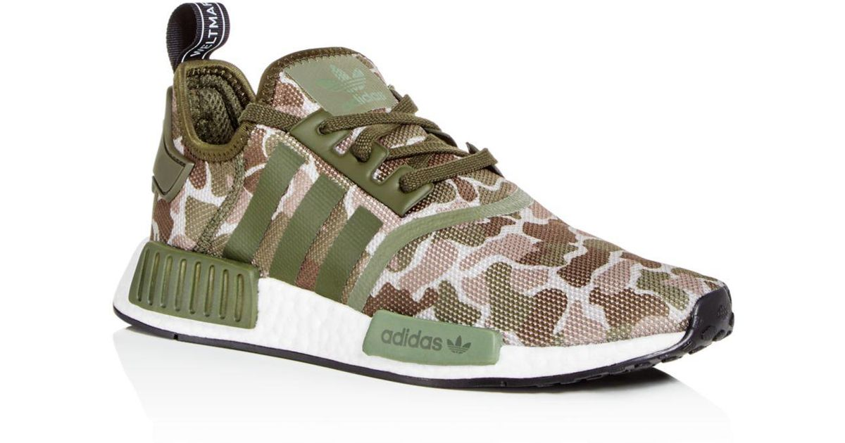 c8d2995e2 Lyst - adidas Men s Nmd R1 Camo Print Lace Up Sneakers in Green for Men