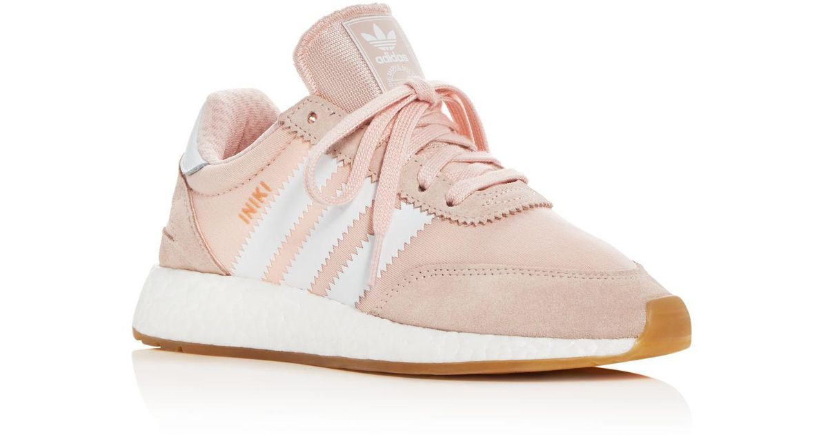 d5a03c5b16b96f Lyst - adidas Women s Iniki Runner Lace Up Sneakers in Pink