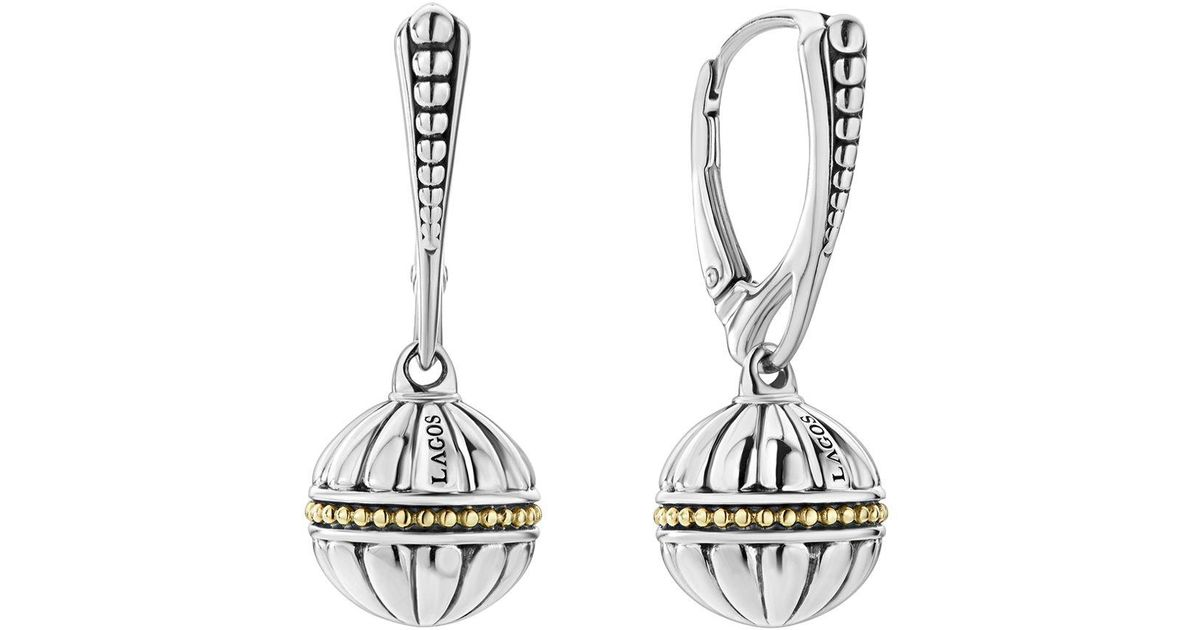 Lagos 18k Caviar Talisman Beaded Ball Drop Earrings zP8Fb