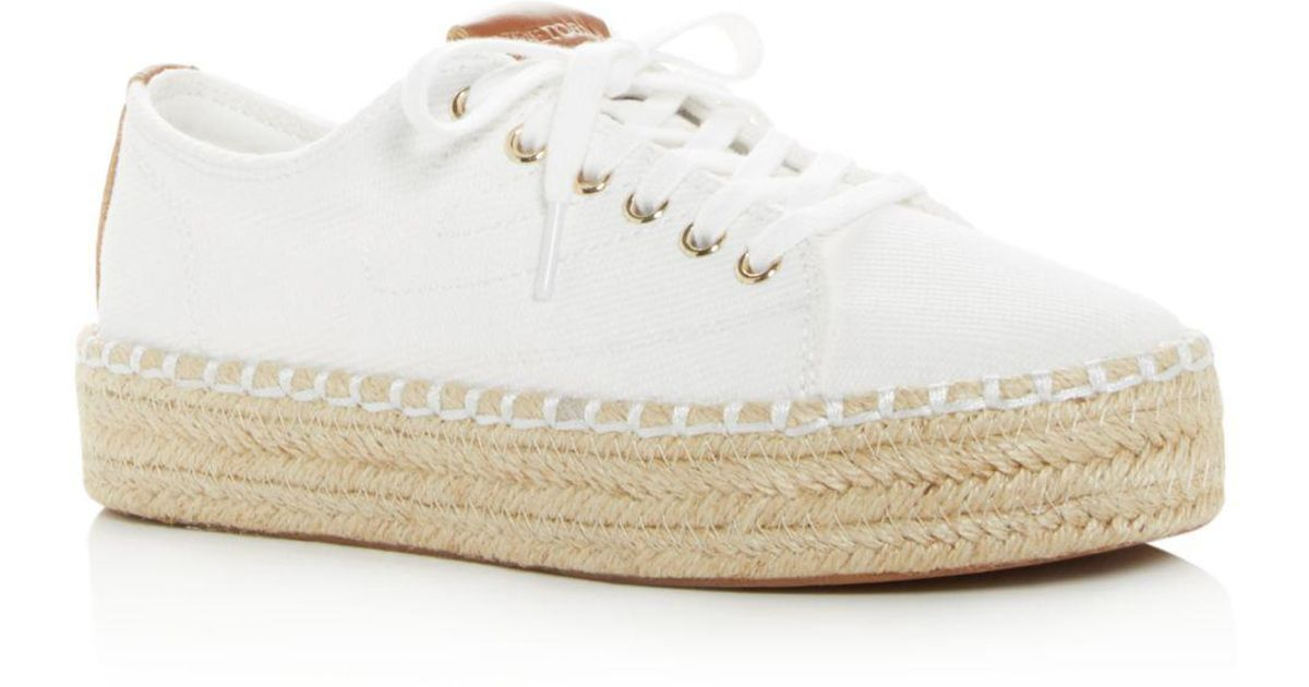 8c20bd07ca4 Tretorn Women s Eve Low-top Platform Espadrille Sneakers in White - Lyst