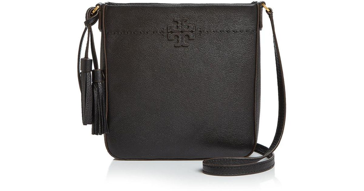 7b1bc069d0a Lyst - Tory Burch Mcgraw Leather Swingpack in Black