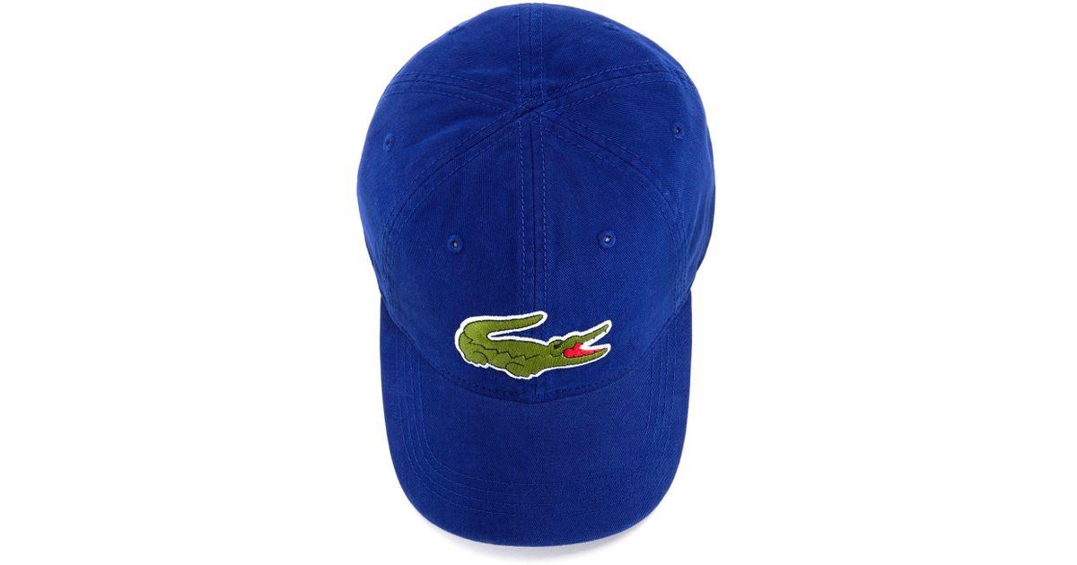 27989d2f Lacoste Big Croc Hat in Blue for Men - Lyst