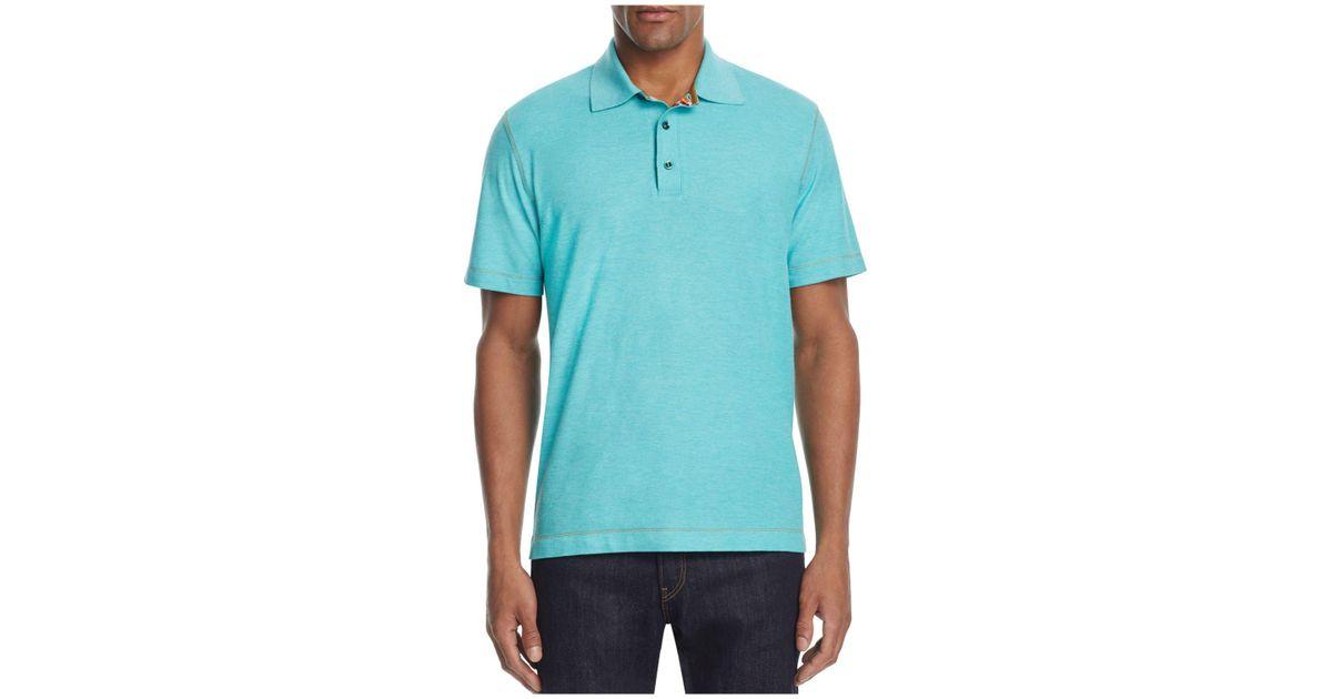 1f8311cb36dd Lyst - Robert Graham Stellar Classic Fit Polo Shirt in Blue for Men