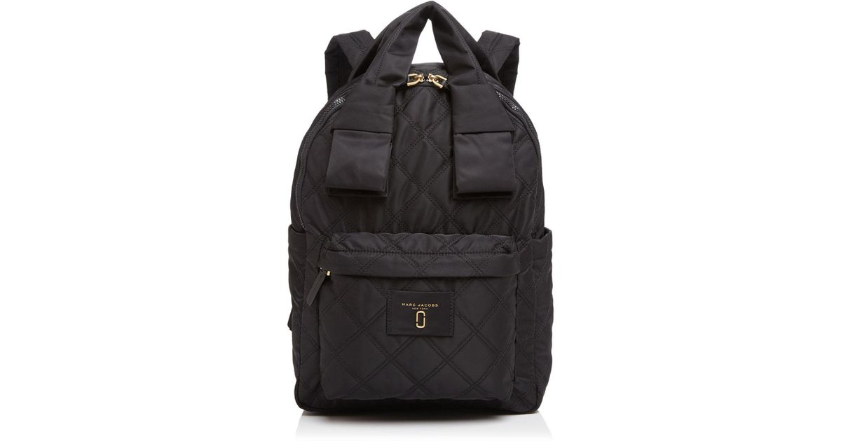 3a66c3f47a48a Lyst - Marc Jacobs Knot Large Quilted Nylon Backpack in Black