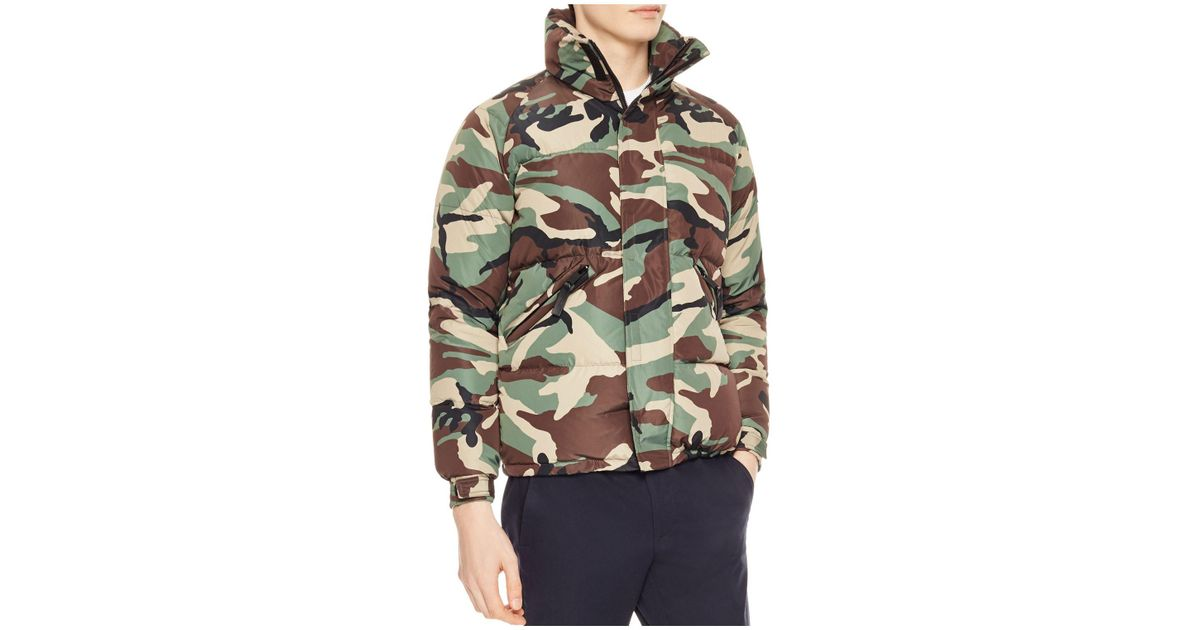 cb76b8561856a Sandro Snow Camo Jacket in Green for Men - Lyst