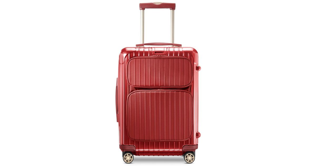 rimowa salsa deluxe cabin multiwheel hybrid in red black lyst. Black Bedroom Furniture Sets. Home Design Ideas