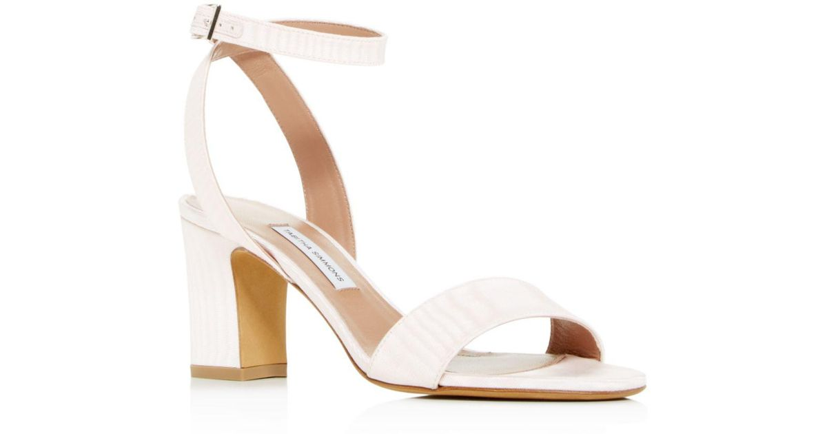 a9308aec02d Lyst - Tabitha Simmons Women s Leticia Ankle Strap Block-heel Sandals