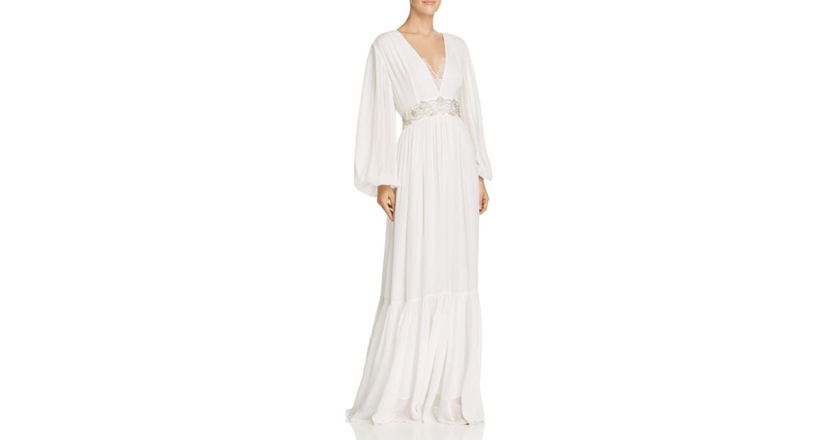 Lyst - French Connection Cari Sparkle Wedding Dress in White