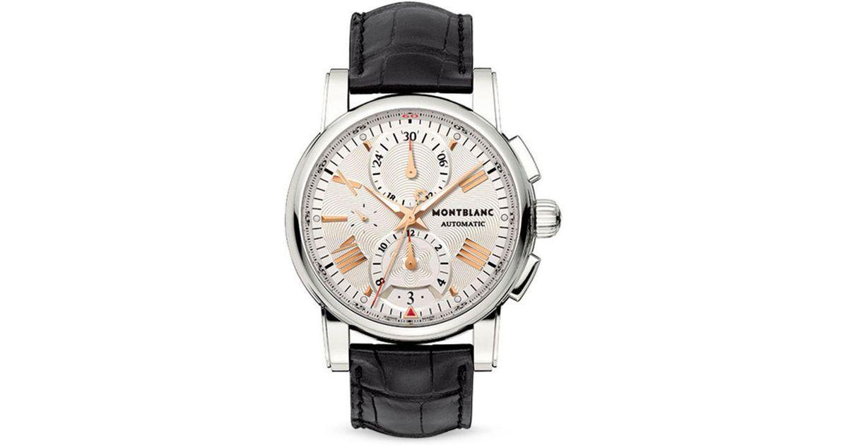 2483c6f9012 Lyst - Montblanc Star 4810 Automatic Watch