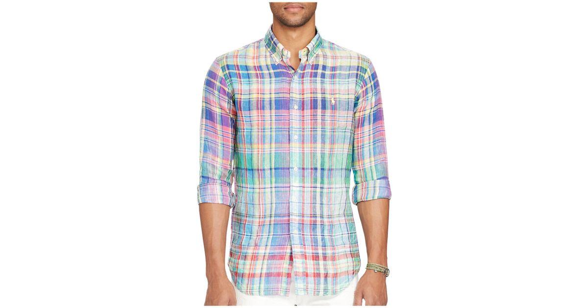 935c9f8b92eb Lyst - Polo Ralph Lauren Ocean-wash Classic Fit Button-down Shirt in Blue  for Men