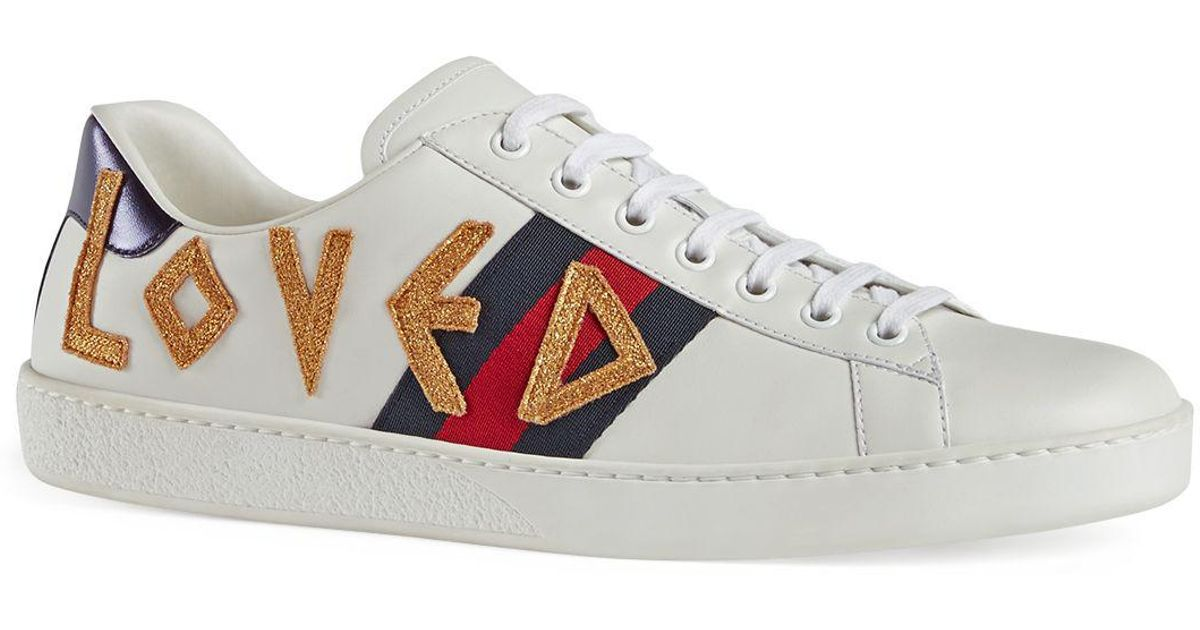 896f4c850d6 Lyst - Gucci Men s Loved Sneakers in White for Men