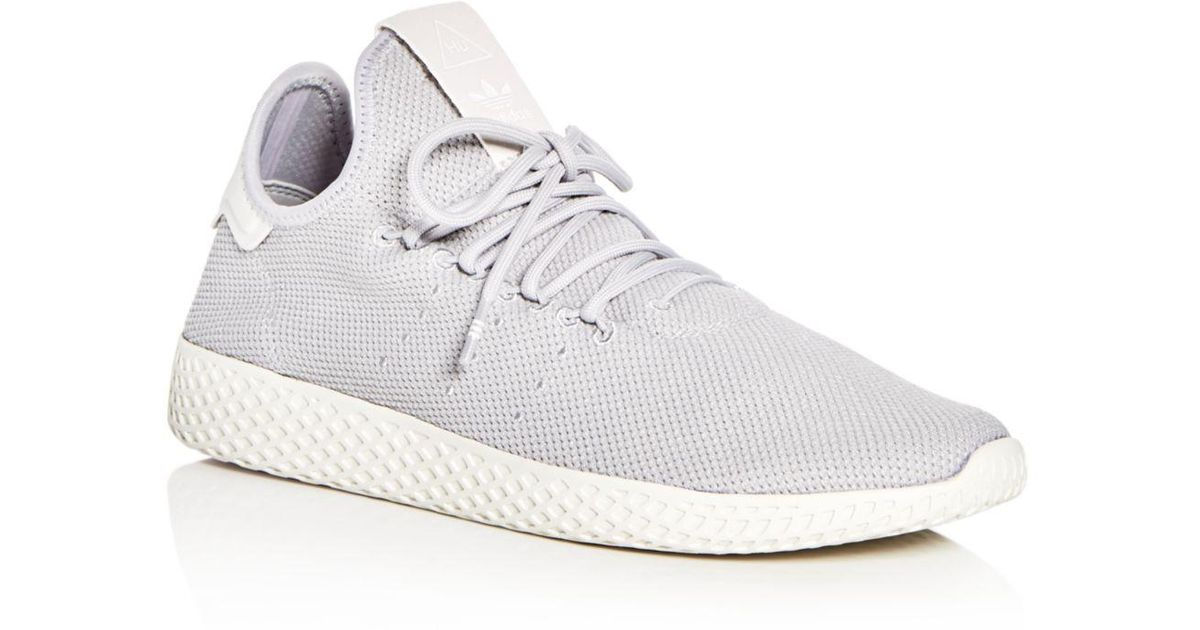 Adidas Gray Pharrell Williams Women's Tennis Hu Lace Up Sneakers