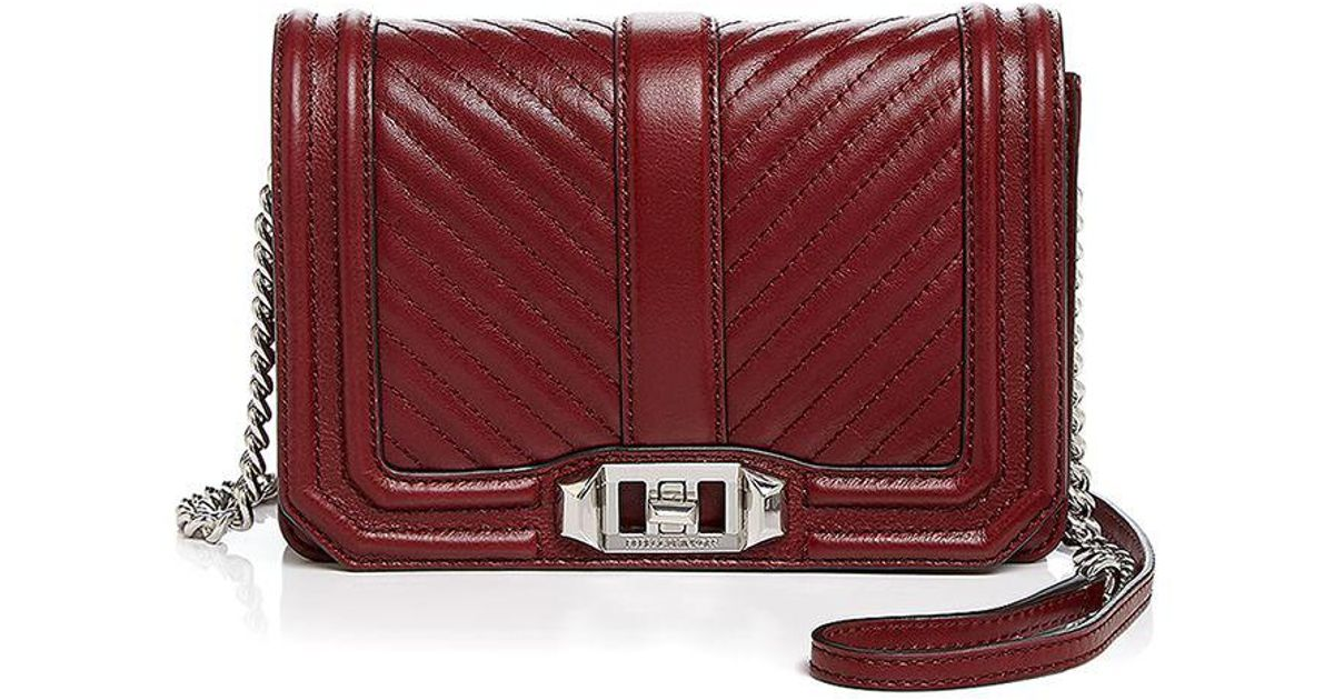 Small Crossbody Rebecca Red Love Quilt Minkoff Chevron Leather gyI6vmYb7f