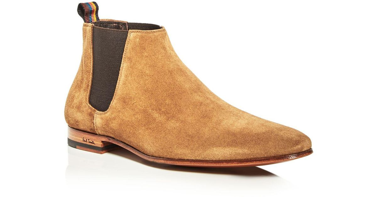 Paul Smith Tan Suede Marlowe Chelsea Boots JxJNpeAe