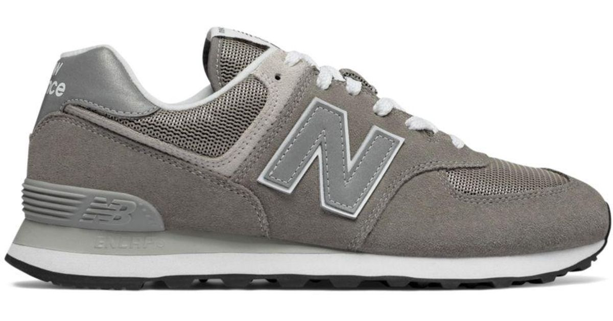 promo code 95d64 33a9e New Balance Men s Classic 574 Suede Lace Up Sneakers in Gray for Men - Lyst