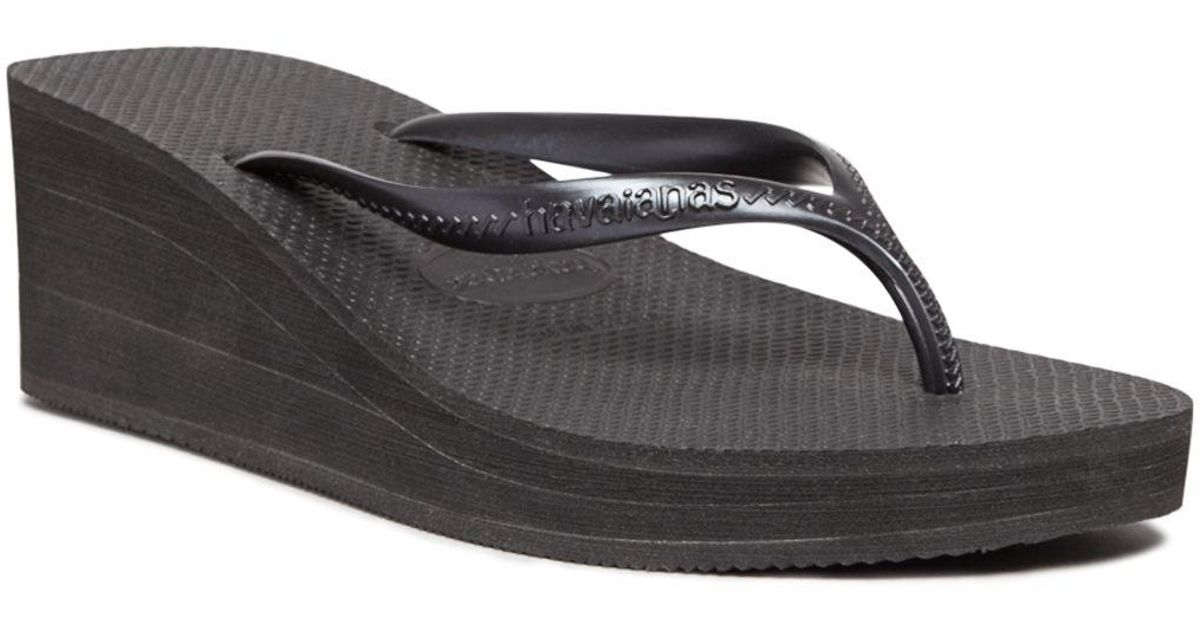 518e8265a7a Lyst - Havaianas Platform Wedge Flip-flops - High Fashion in Black
