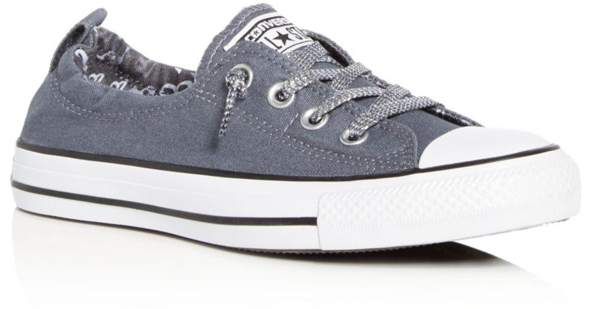 7943f97797b9a5 Lyst - Converse Women s Chuck Taylor All Star Shoreline Slip-on Sneakers in  Blue