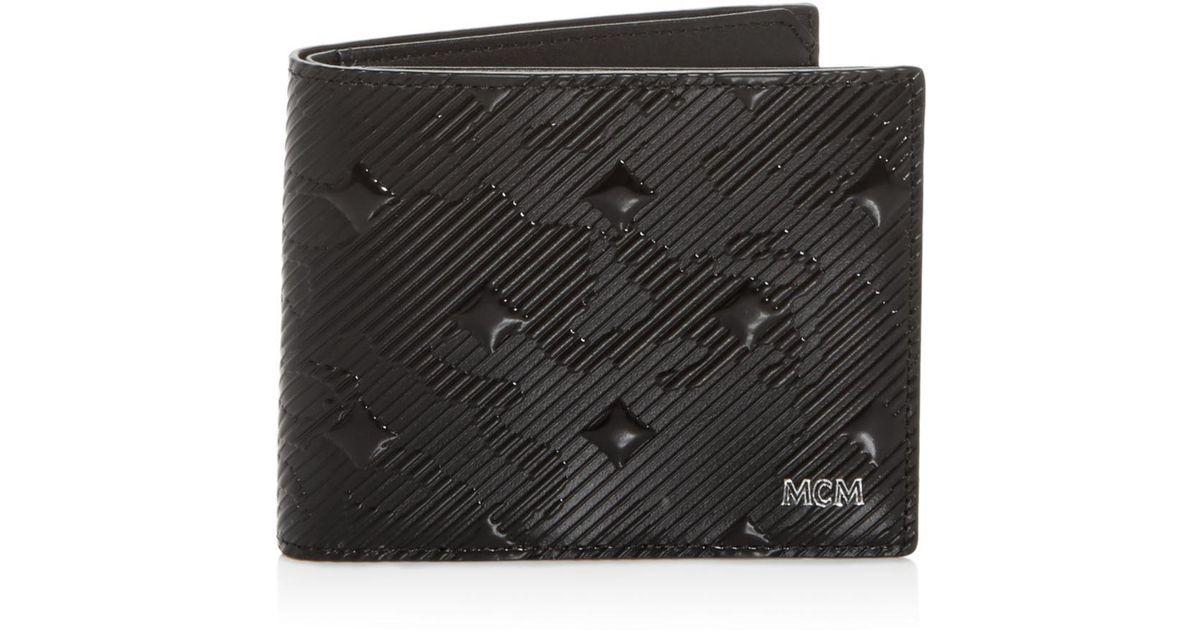 90579a928c4 Lyst - MCM Coburg Munich Lion Camo-embossed Bi-fold Wallet in Black for Men