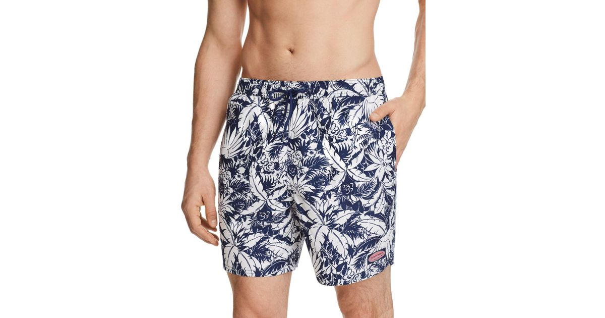 acb4c2a21c4ab Lyst - Vineyard Vines Pineapple Palms Chappy Swim Trunks in Blue for Men