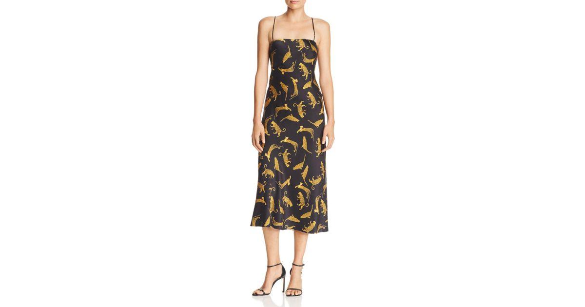 974f4c6594a2 Bec & Bridge Conga Beat Printed Silk Midi Dress in Black - Lyst