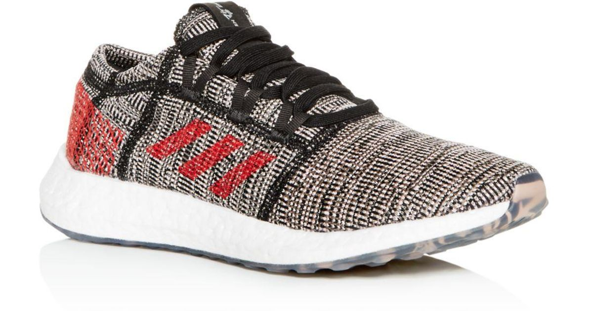 4be9692908c adidas Men s Pureboost Go Knit Low-top Sneakers in Black for Men - Lyst