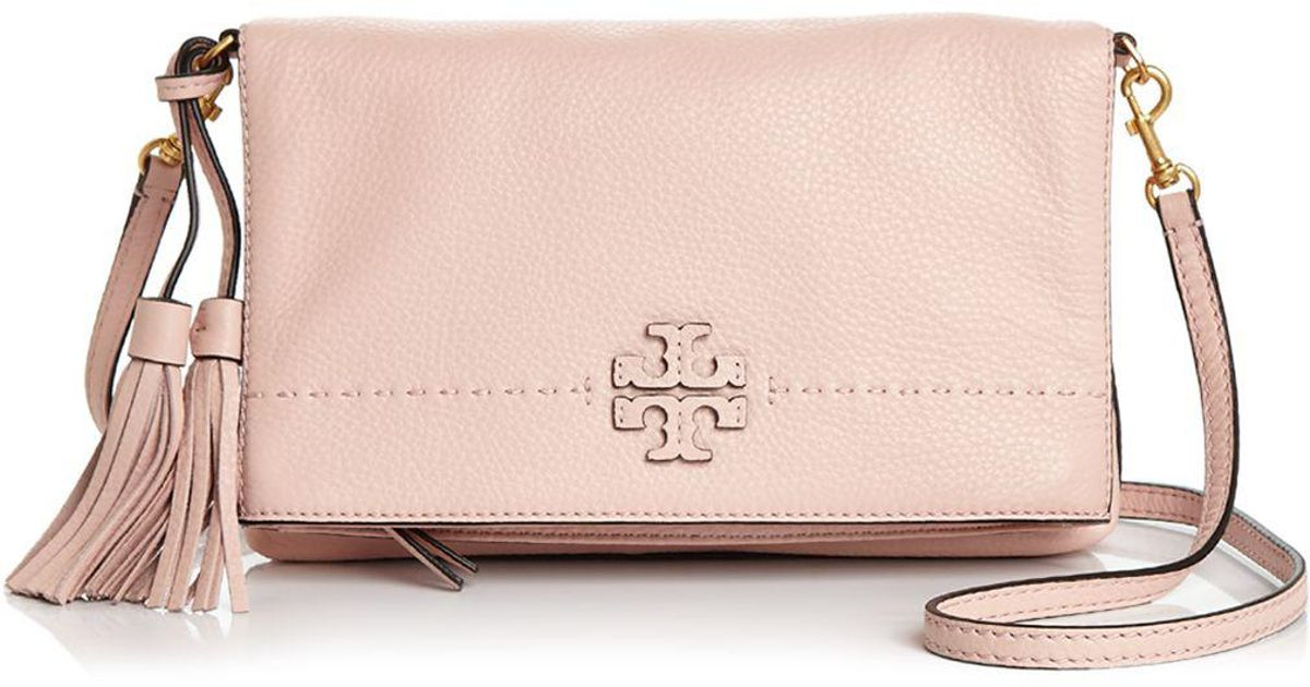 a1d3797412367 Lyst - Tory Burch Mcgraw Fold-over Leather Crossbody