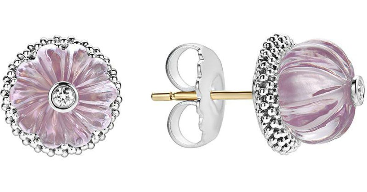 earrings drop france oval de frame topaz sterling amethyst and rhodium in rose v white p with silver