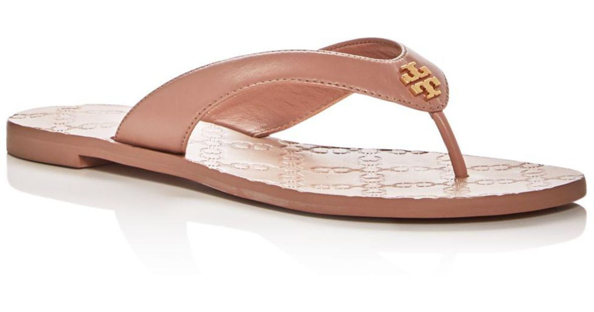 e73857ad347 Lyst - Tory Burch Women s Monroe Leather Thong Sandals