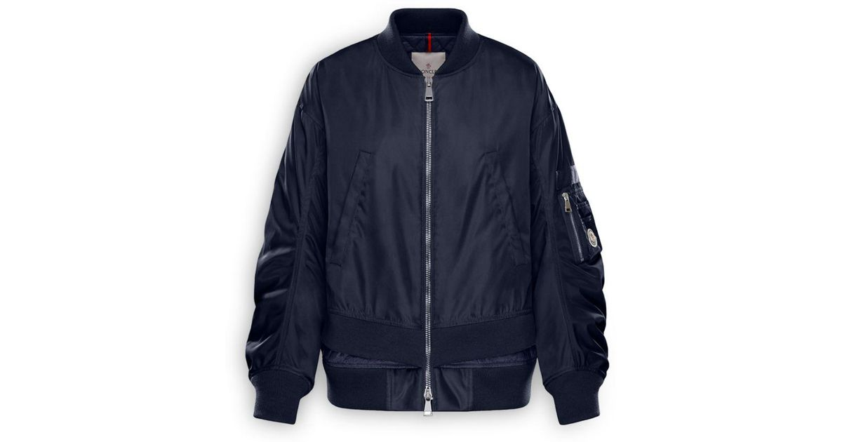 a6e33f642 Lyst - Moncler Aralia Down Bomber Jacket in Blue