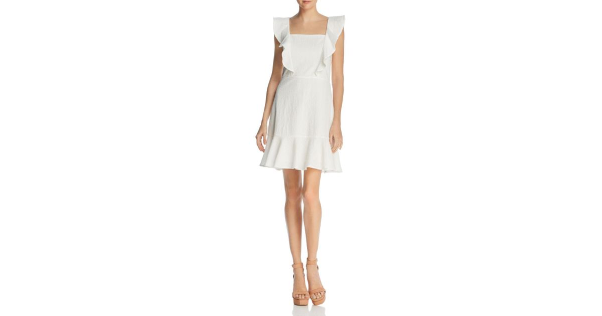 861f474f99 Lucy Paris Ruffled Textured Dress in White - Lyst