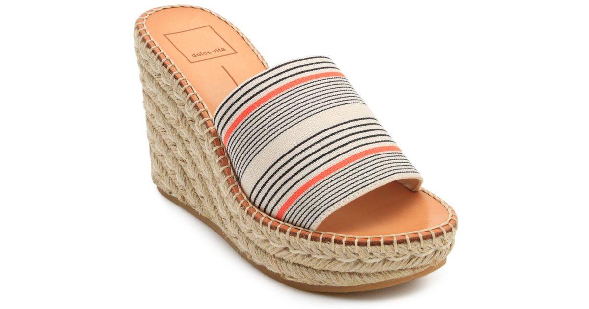 bac2ccb2662 Lyst - Dolce Vita Women s Pim Platform Wedge Espadrille Slide Sandals
