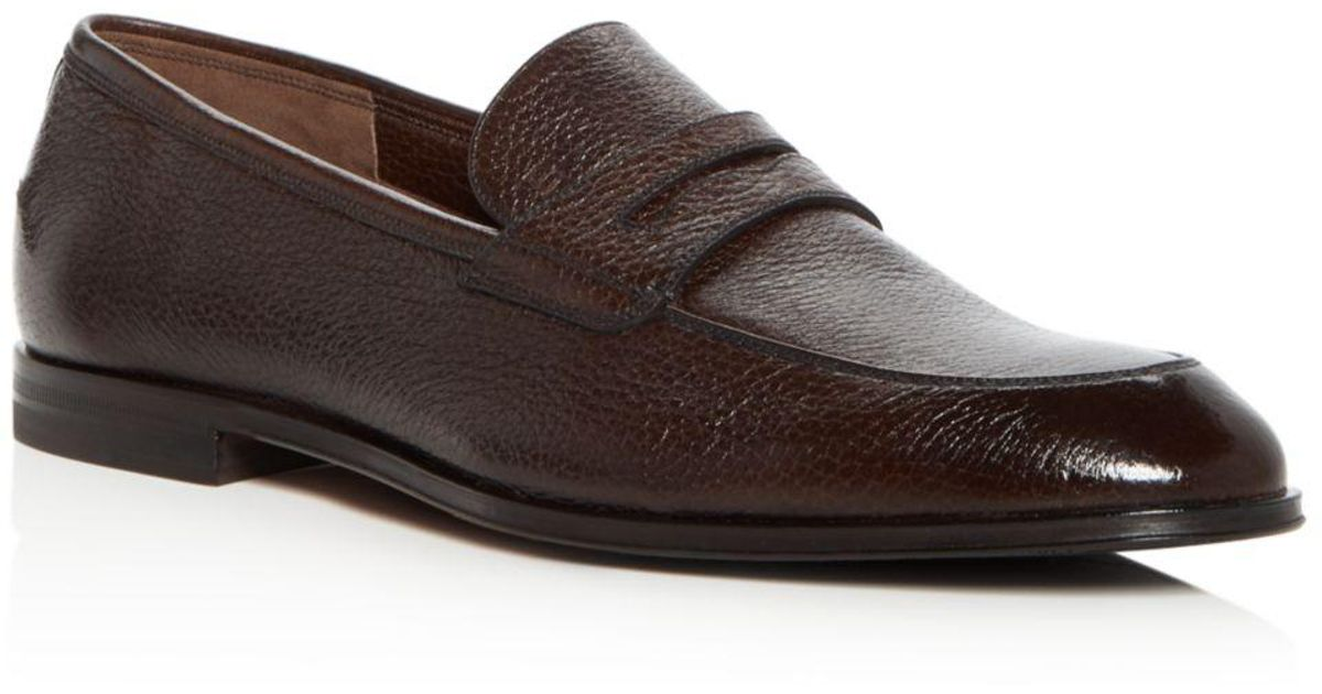 ebd9f50056d Lyst - Bally Men s Webb Leather Penny Loafers in Brown for Men